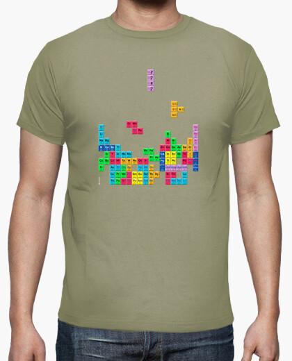 Camiseta Tabla periódica Tetris color caqui