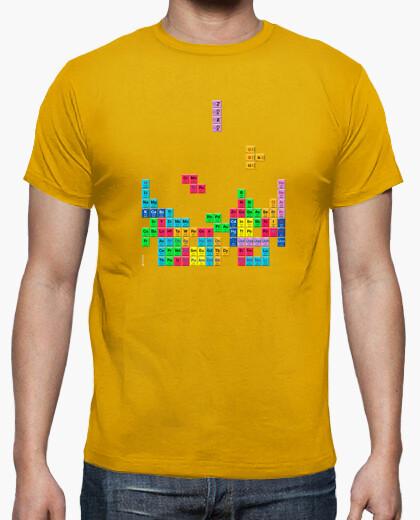 Camiseta Tabla periódica Tetris color mostaza