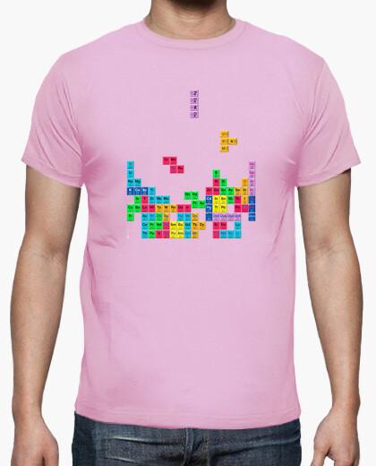 Camiseta Tabla periódica Tetris color rosa