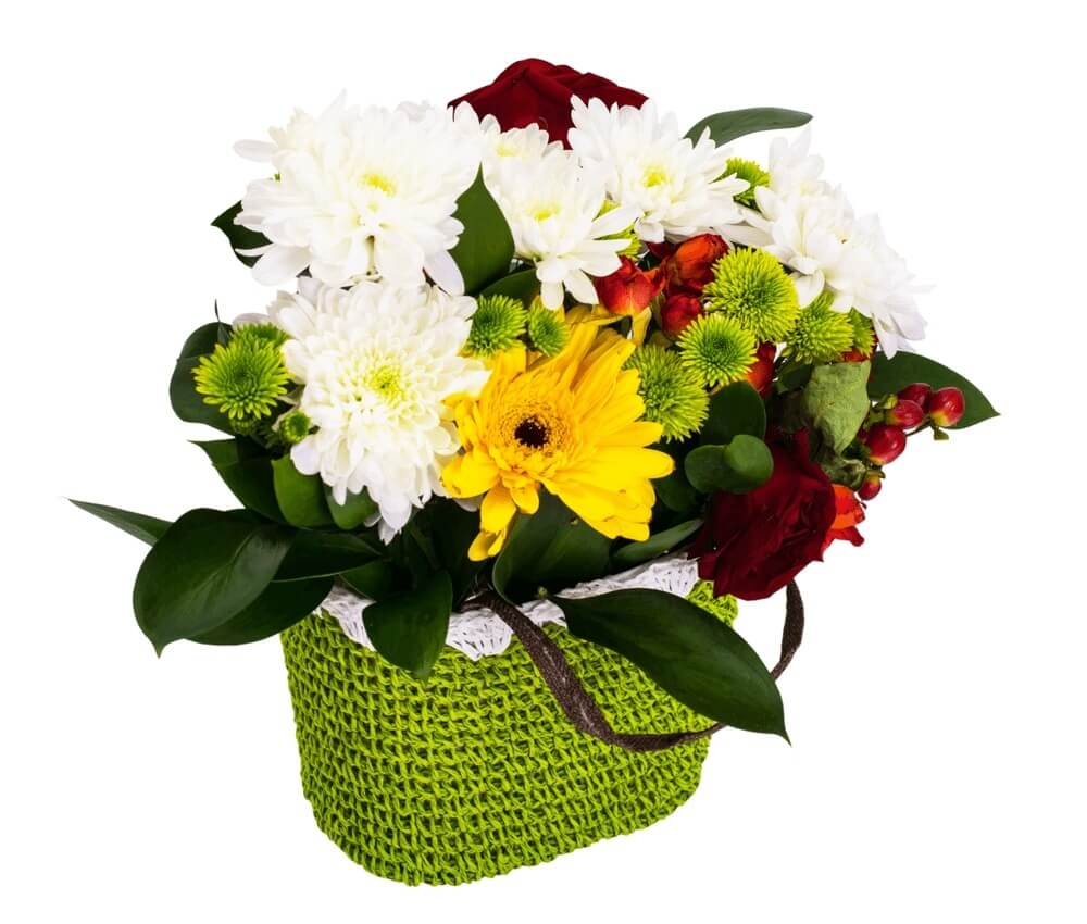 Good morning images with bouquet of flowers