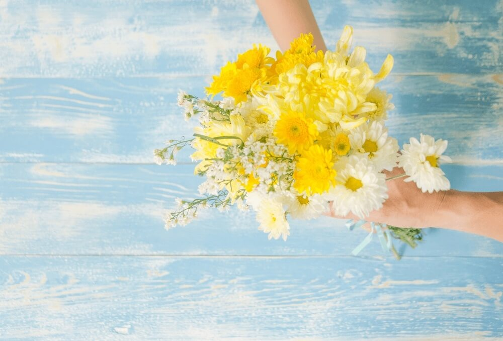 Good morning images with flowers yellow color