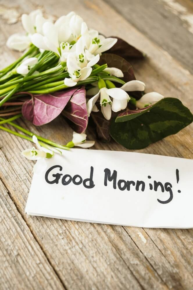 flower Good morning images with Bouquet of spring flowers