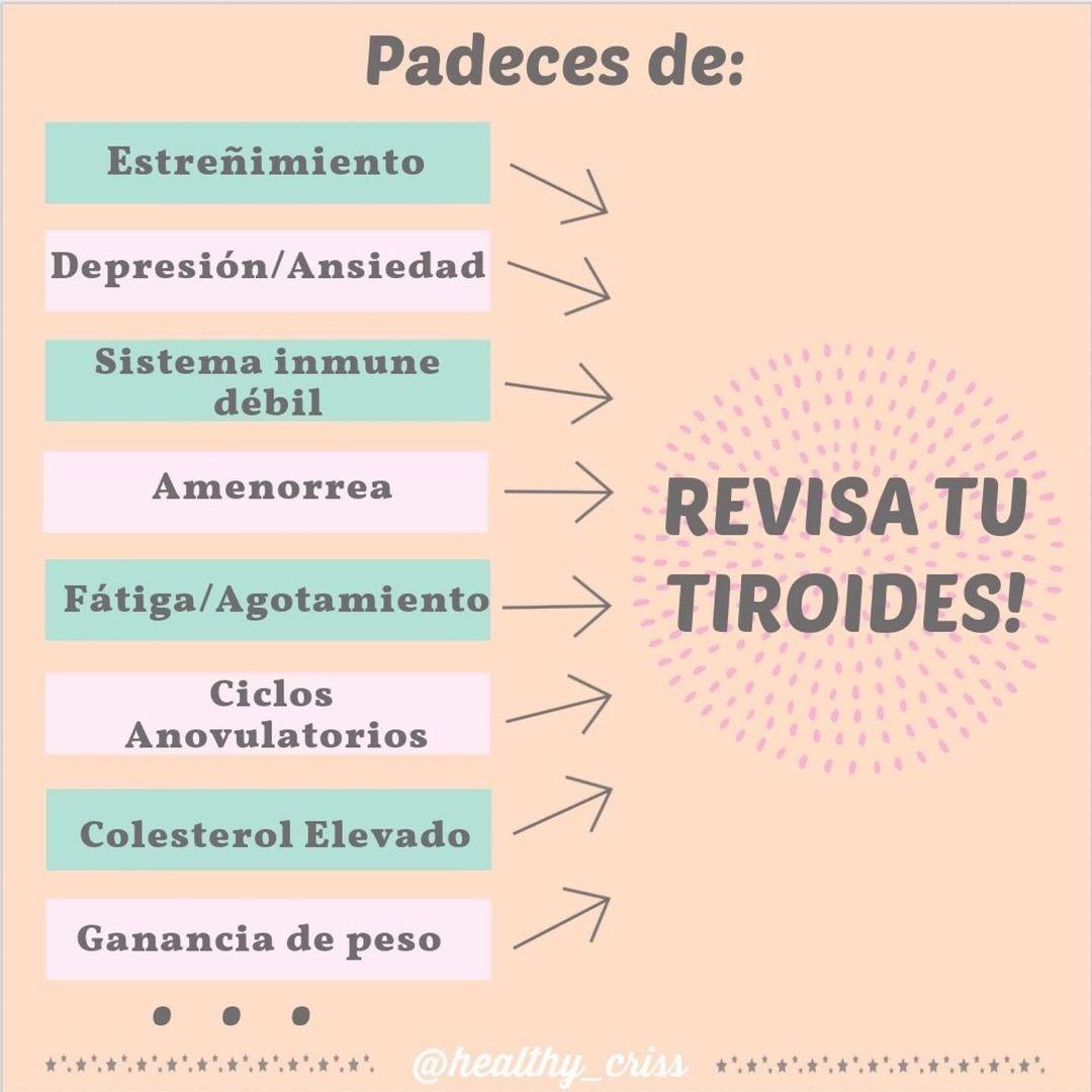 Síntomas de tener tiroides