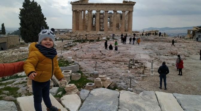 Descubrir el Acrópolis con un bebe