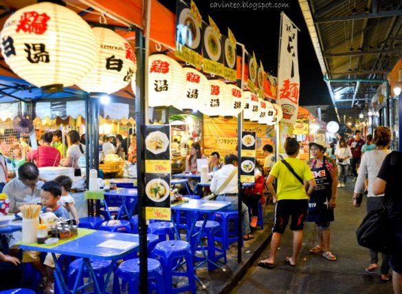 Ratchada Night Train Market Bangkok Thailand