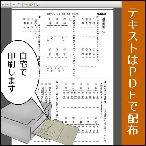 スタディサプリの小5国語のPDFデータとプリンターの絵