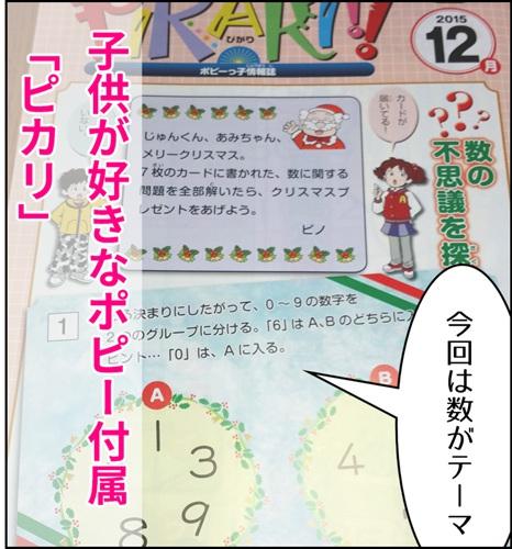 通信教育ポピーに付属してくる小冊子「ピカリ」の表紙写真