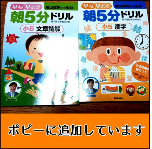 5年生向けの漢字ドリル・文章ド問題ドリルの写真