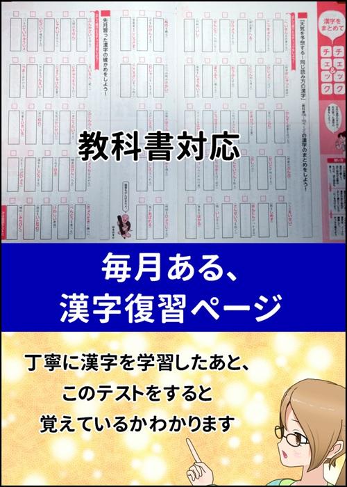 ポピーの漢字まとめ学習ページの写真
