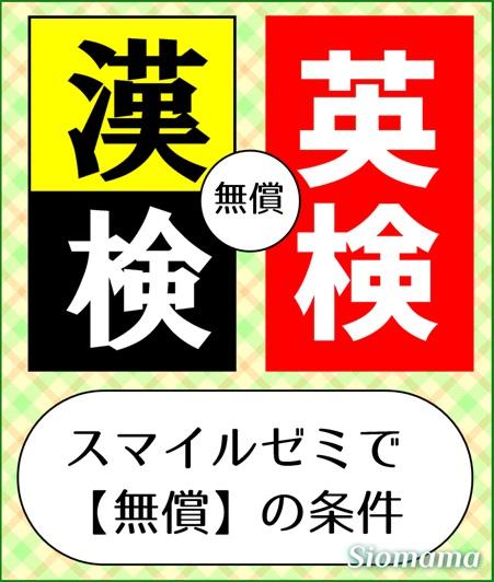 スマイルゼミ小学生で漢検・英検を無償で受けられる条件のページのアイコン
