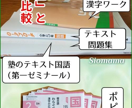 「小学ポピー」と「塾」の比較:国語編