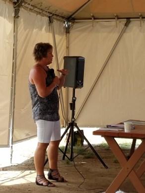 Our speaker Monica, from Boatin Cape Breton Association