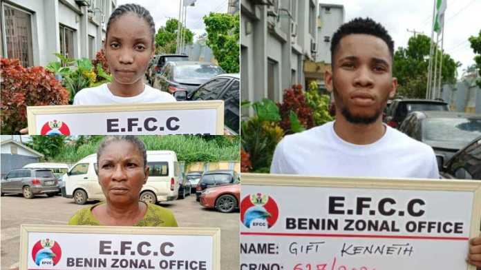 Nigerian Man, Mum, Girlfriend Jailed For Defrauding American Lady In Delta
