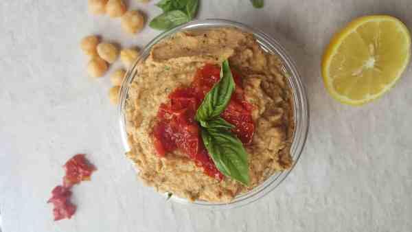 Roasted Tomato & Basil Hummus | Sip & Spice