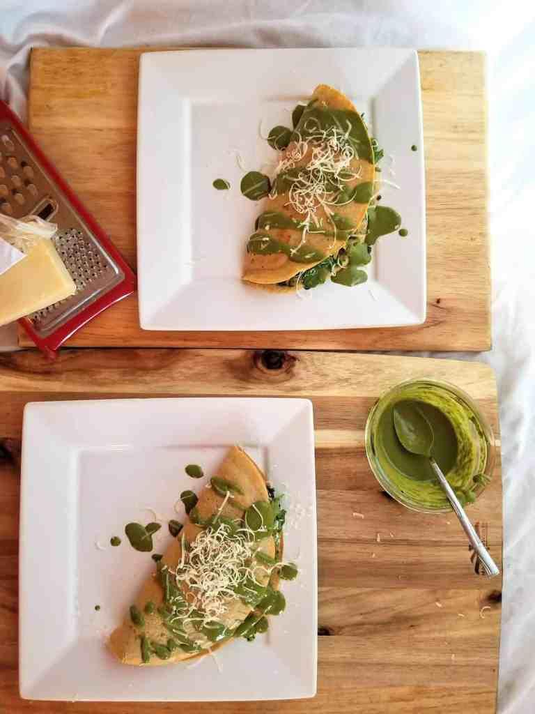 Socca Flatbread with Pesto