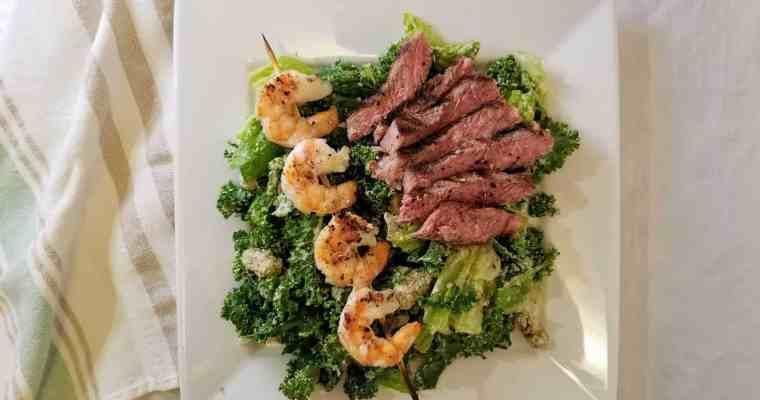 Surf + Turf Kale Caesar Salad