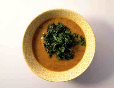 black bean and butternut squash bisque