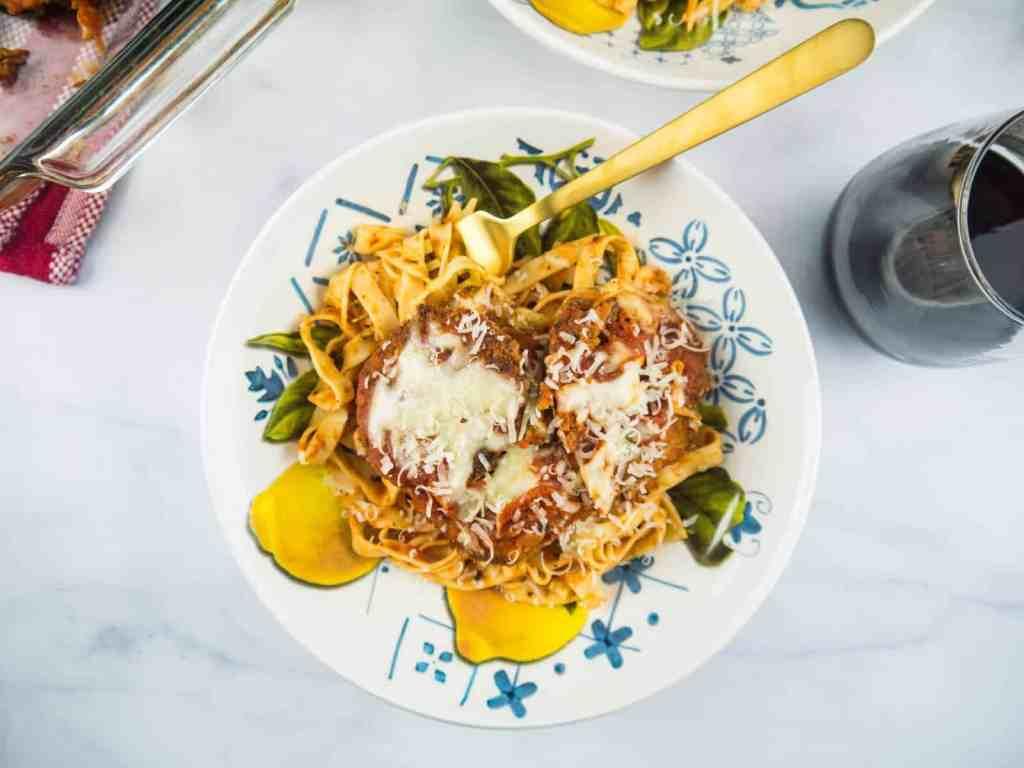 Baked Eggplant Parmesan | Sip + Spice