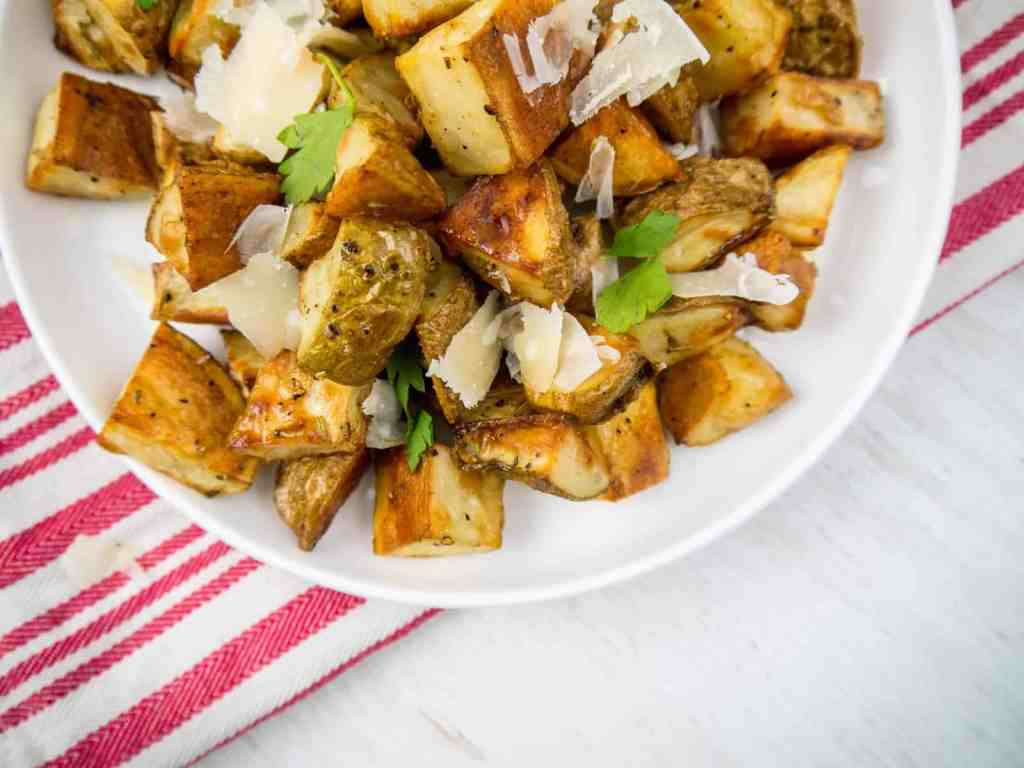 Truffle Parmesan Roasted Potatoes | Sip + Spice