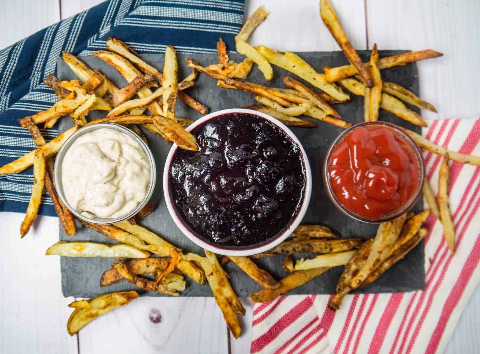 Red White and Blue Dip Trio ft. Savory Blueberry Dipping Sauce