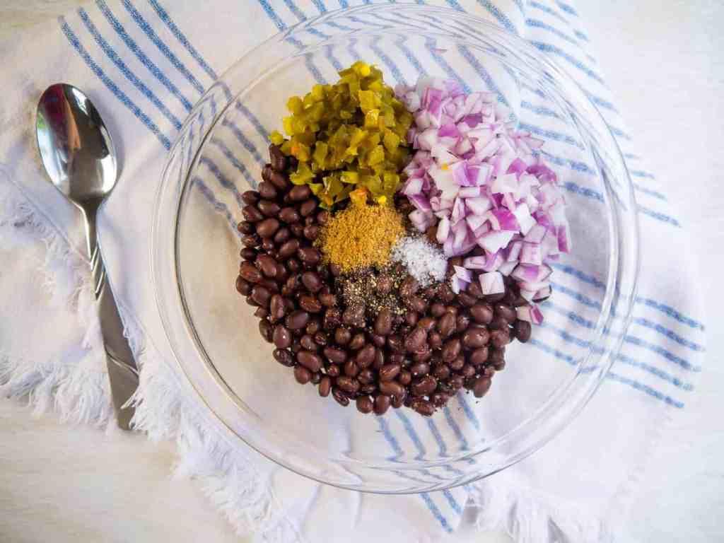 Spicy Black Bean Salad | Sip + Spice
