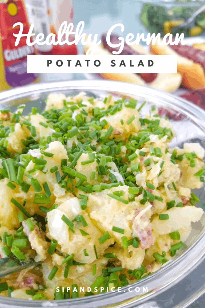 Healthy German Potato Salad | Sip + Spice #potatosalad #summersides #summerrecipes