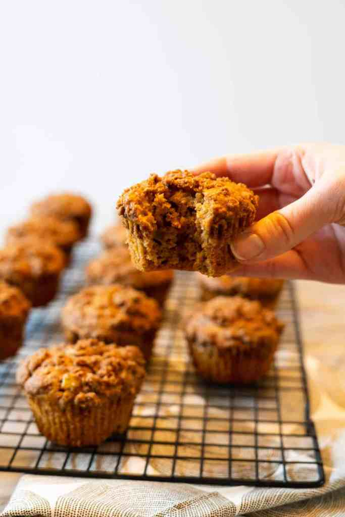 Spiced Apple Muffins with Chai Crumble | Sip and Spice
