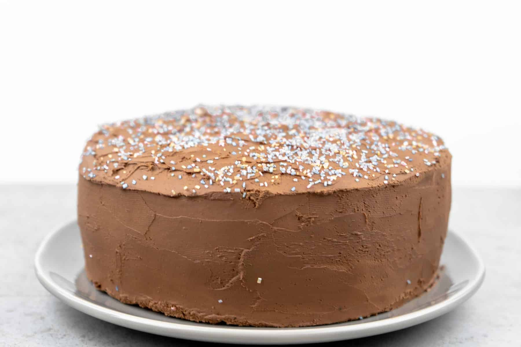 Chocolate Coconut Stout Cake with Whipped Chocolate Ganache Frosting