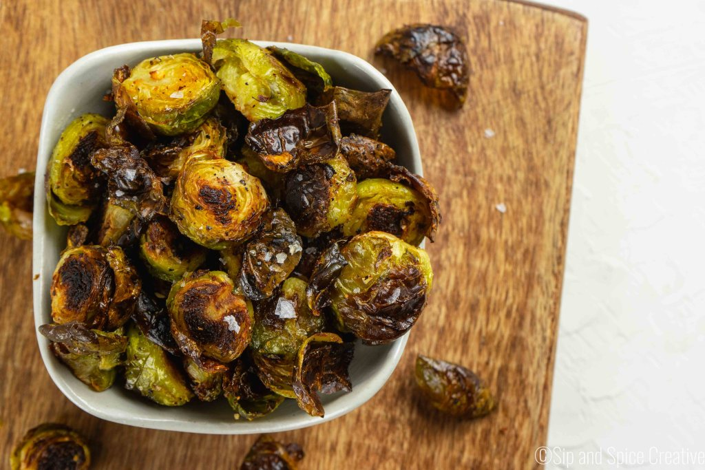 Crispy Brussels Sprouts with Smoked Paprika Maple Aioli | Sip and Spice