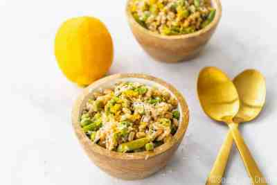Spring Farro Salad with Asparagus and Meyer Lemon Vinaigrette   Sip and Spice
