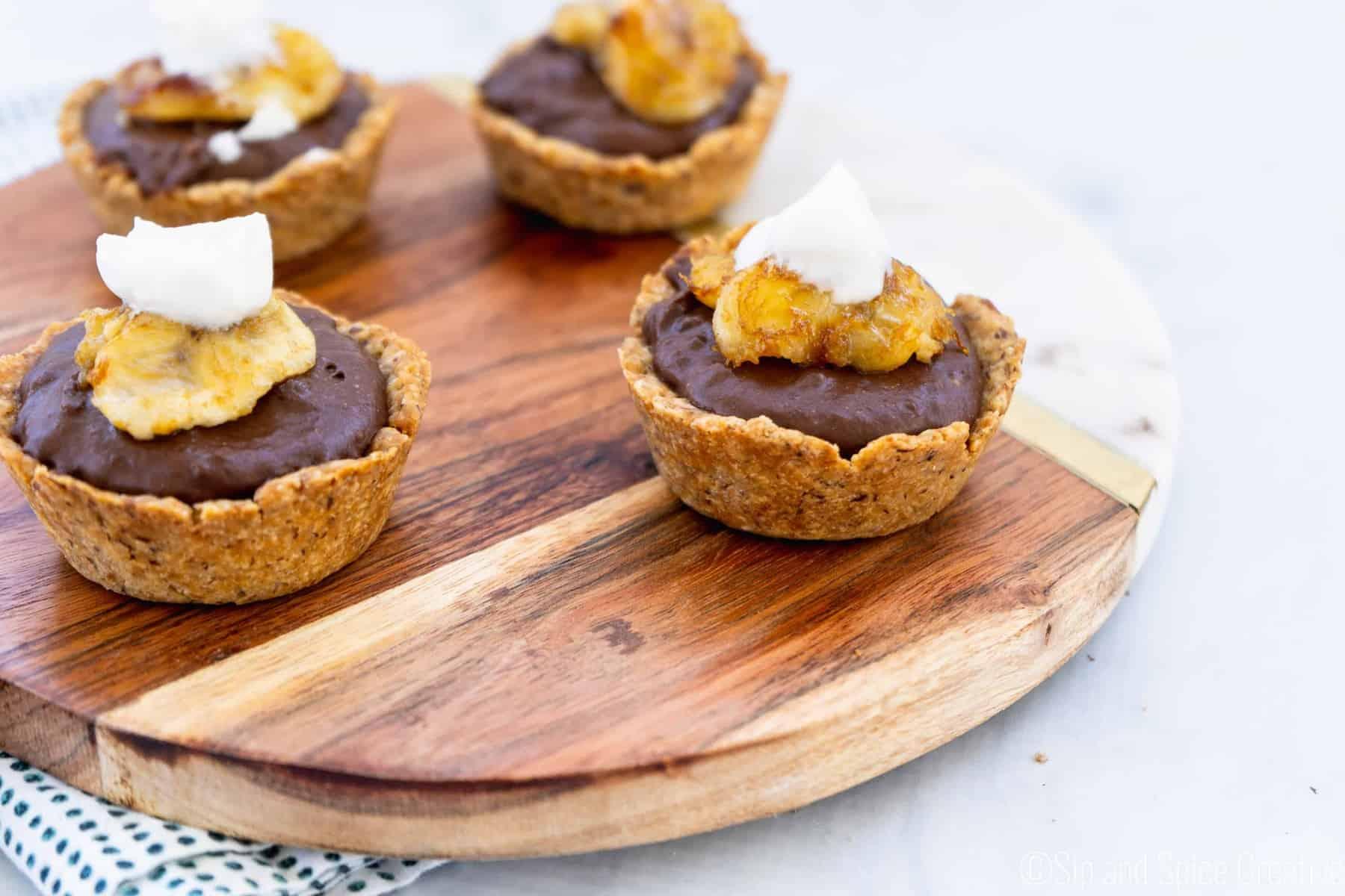 Vegan Chocolate Banana Tarts