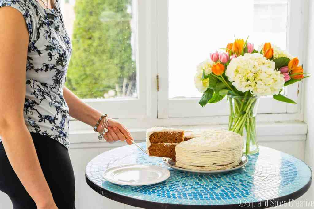 Easy Carrot Cake with Cream Cheese Frosting | Sip and Spice