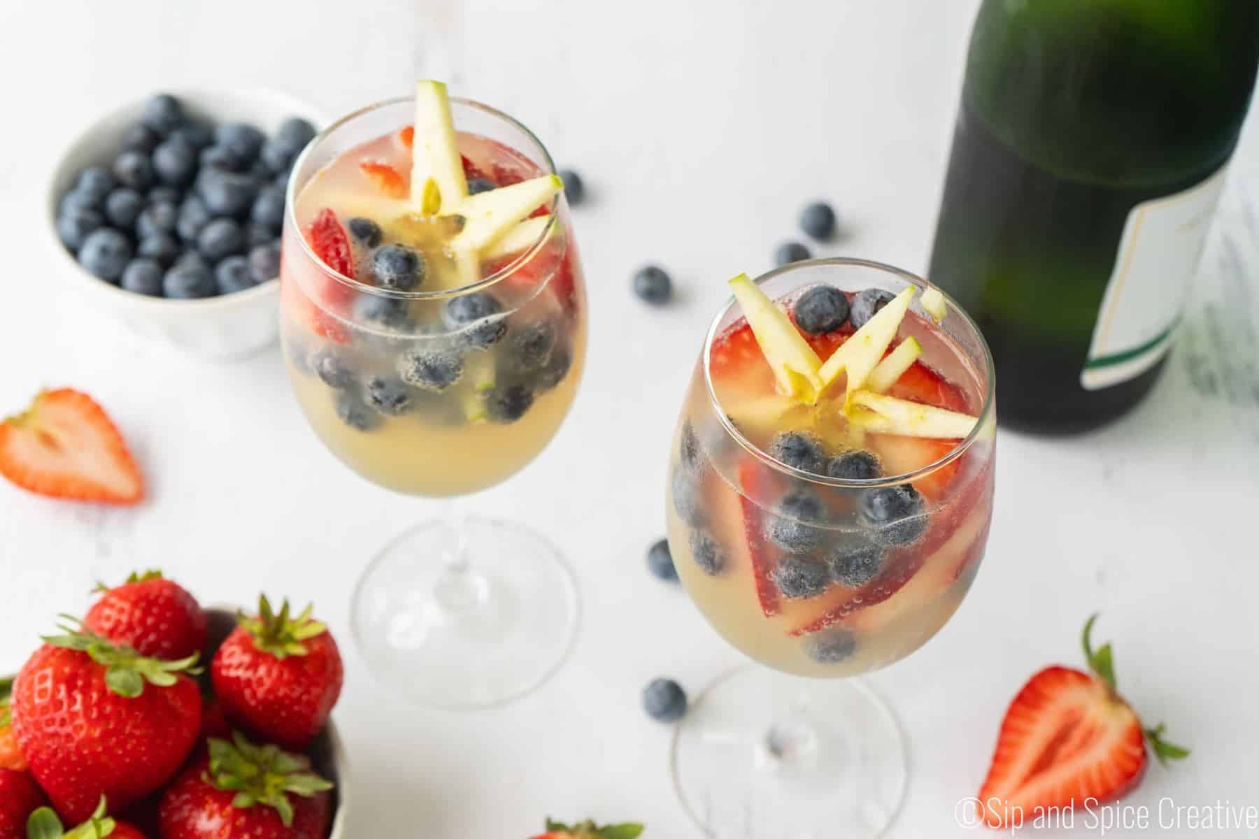 Red White and Blue Mimosas