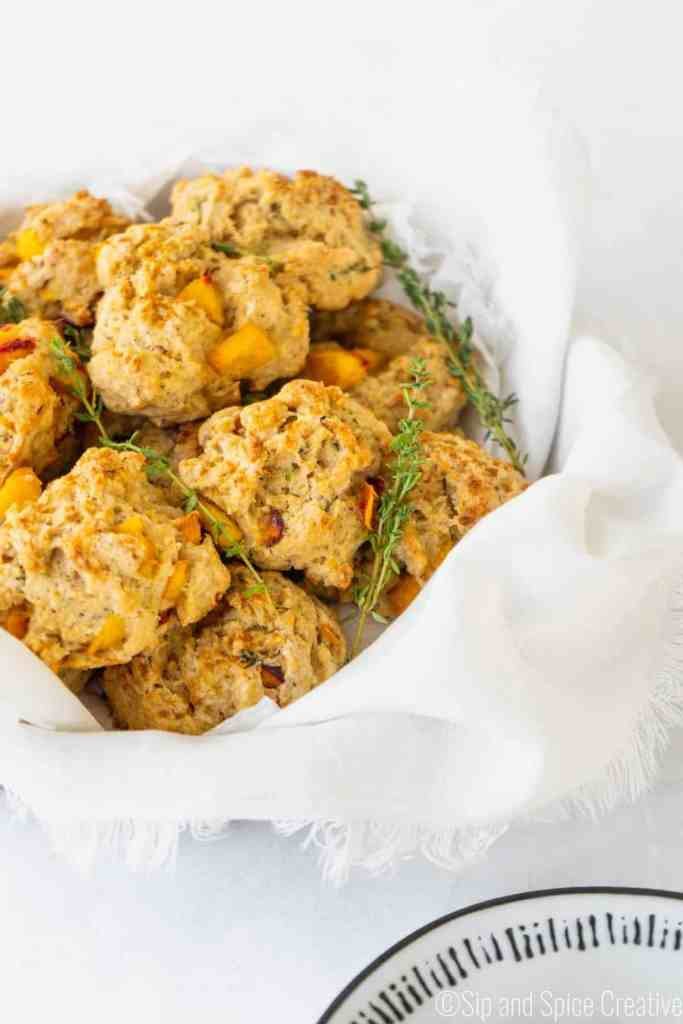 Peach Scones with Thyme and Black Pepper   Sip and Spice