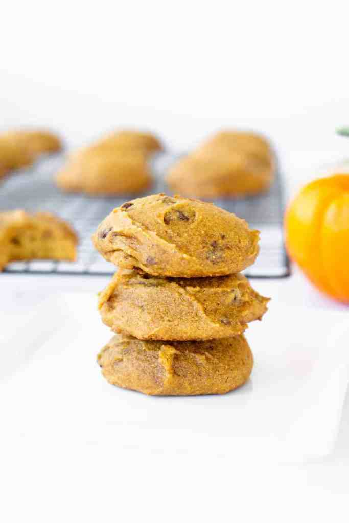 Easy Pumpkin Chocolate Chip Cookies Stack | Sip and Spice