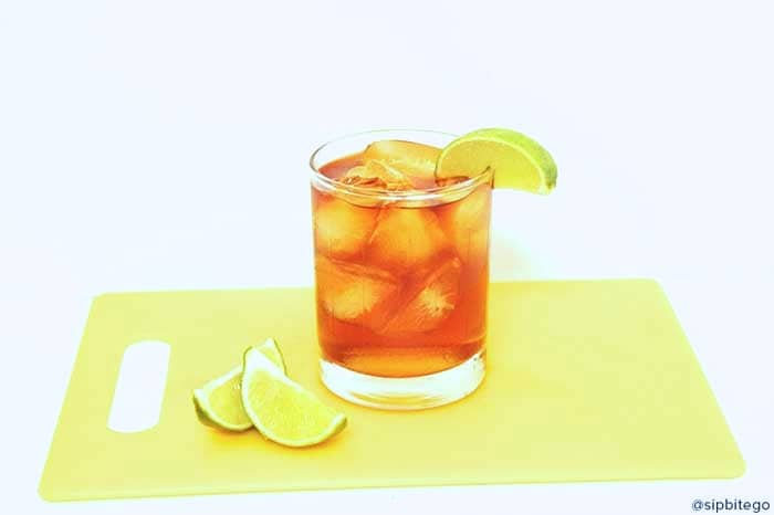 Dark and stormy cocktail https://sipbitego.com/cocktail-recipe-for-dark-stormy-drink/