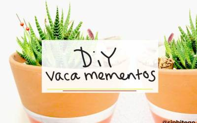 Summer vacation mementos DIY planter idea