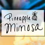 Pineapple mimosa brunch cocktail recipe via sipbitego.com #brunching #mimosa