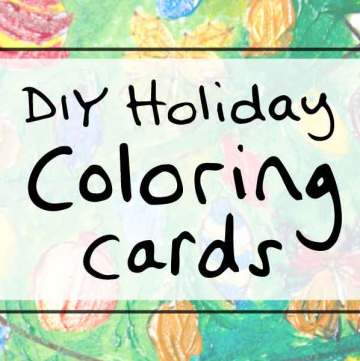 Holiday DIY idea: Christmas Coloring Cards via sipbitego.com #holidaycrafts #tistheseason