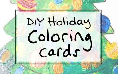 Holiday DIY idea: Christmas Coloring Cards