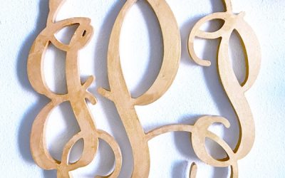 How to decorate with a wedding monogram