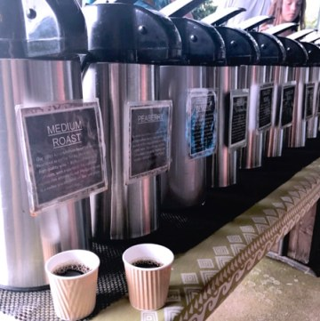 Samples of some of the best hawaiian coffee at Greenwell Kona Coffee Tour on the Big Island