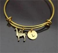 Stackable llama bracelet bangle with llama Charm by Etsy shop LeBuaJewelrytoo