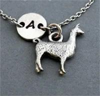 Llama charm bracelet in silver by Etsy shop ShortandBaldJewelry