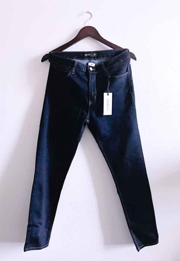 Spring Stitch Fix box opening 2018 Cosmic Blue Love - Adrianne distressed boyfriend jean in blue denim skinny jean style