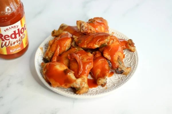 Sous vide chicken wings with Franks buffalo sauce