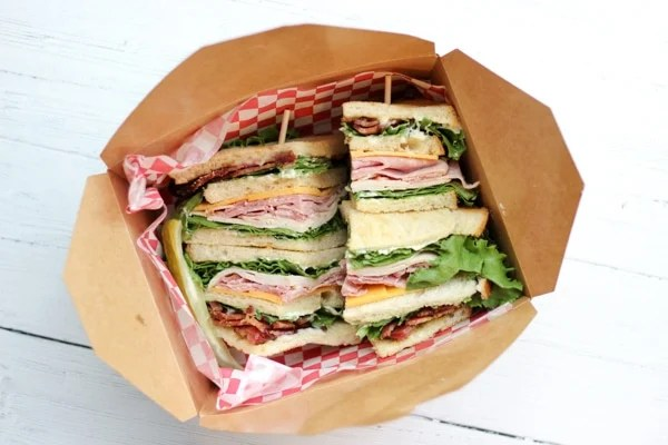 Phils Meat Market Deli, one of the best lunch restaurants in Portland, sells big Italian sandwiches like this Turkey Club