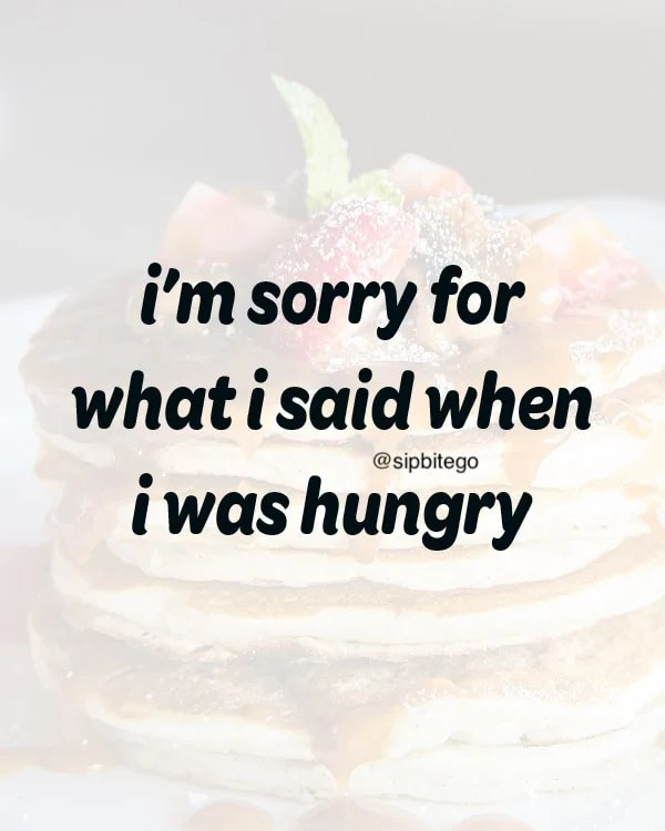 funny quote about being hungry
