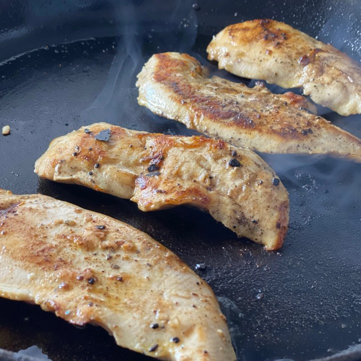 searing sous vide chicken breast tenders