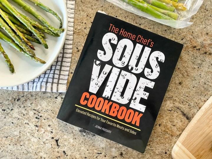 sous vide cookbook with sous vide asparagus